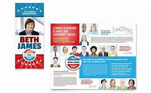 political candidate brochure template design With political newsletter template