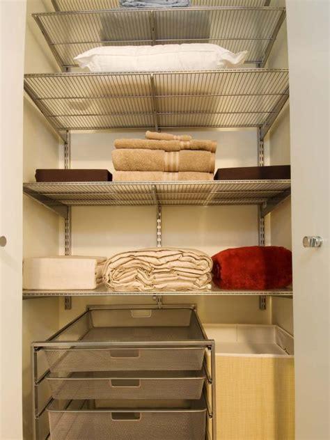 Linen Closet Shelving Systems by Organizing Your Linen Closet Hgtv