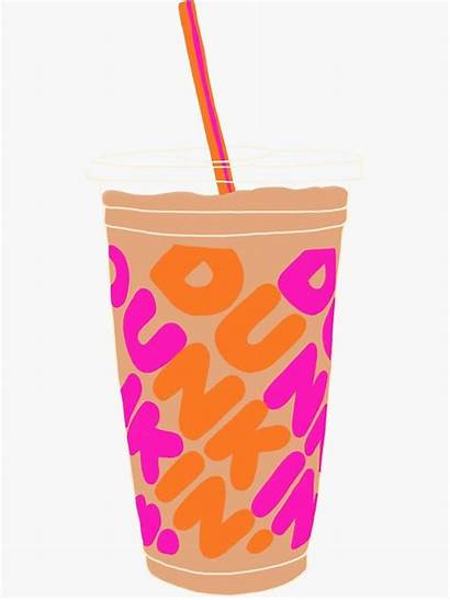 Redbubble Dunkin Coffee Sticker Iced Donuts Stickers