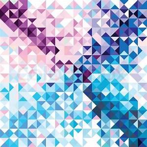 Retro nahtlose Muster aus geometrischen Formen Bunte ...
