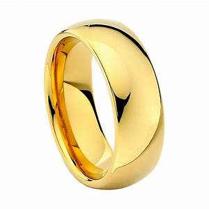 Tungsten Carbide Wedding Band Ring Classic Traditional 8mm