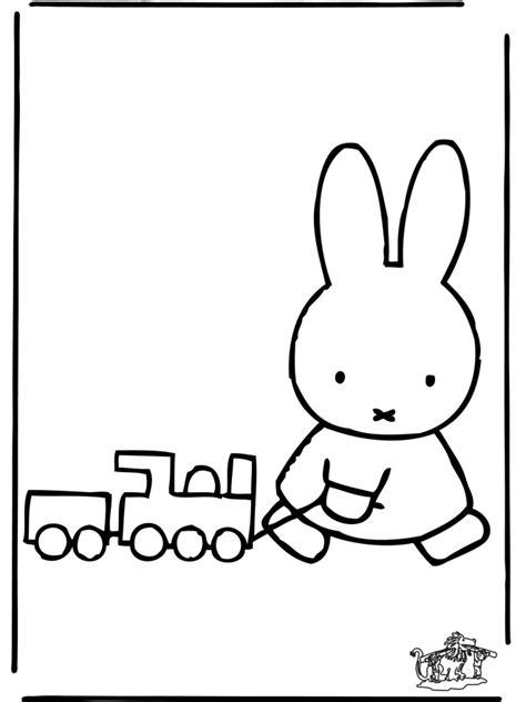 Kleurplaat Trein Met Wagonnetjes by Kr 243 Liczek Miffy