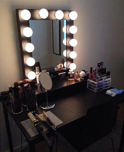 black vanity desk ikea diy vanity mirror with lights for bathroom and makeup