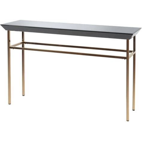 black glass console table buy libra black glass and copper console table from fusion