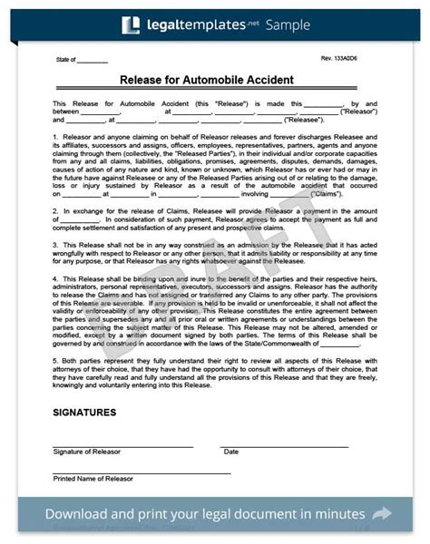 auto accident release of liability form pdf auto accident release of liability form pike productoseb co
