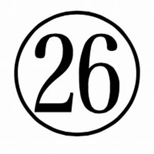 Charbase U+3256: CIRCLED NUMBER TWENTY SIX