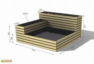 Mini Potager En Bois : carr potager bois autoclave fsc modulable jardipolys ~ Premium-room.com Idées de Décoration