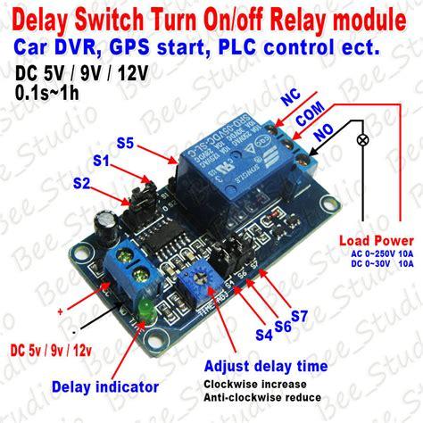 dc 5v 12v delay timing delay timer turn on turn switch relay module plc ebay