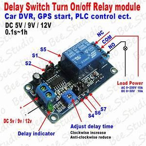 Dc 5v 9v 12v Delay Relay Timing Delay Timer Turn On Delay