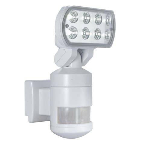 defiant led security light defiant 60 ft 220 degree outdoor white motion tracking