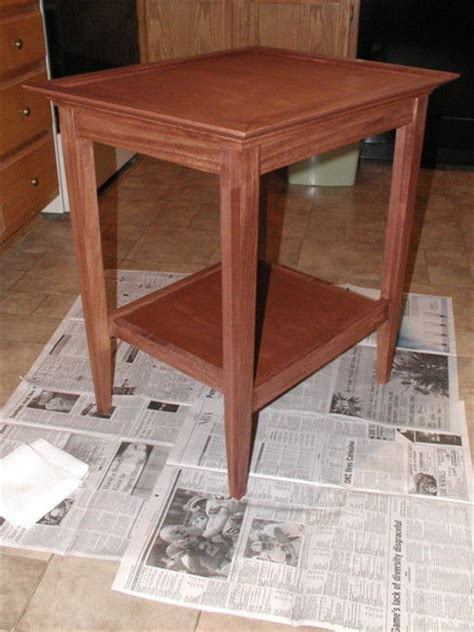 Bedroom End Tables Plans by End Table From Wood Magazine Plan By Rwyoung
