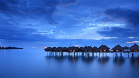 Calm, Sea, Houses, Beach, Malaysia, High, Quality