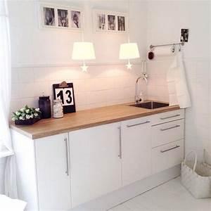 Weisse Küche Mit Holzarbeitsplatte : weisse kueche mit holz modern wohnideen wohnzimmer pinterest k che moderne k che und ~ Eleganceandgraceweddings.com Haus und Dekorationen