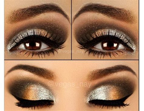 silver smokey eyes eye love makeup pinterest eyes