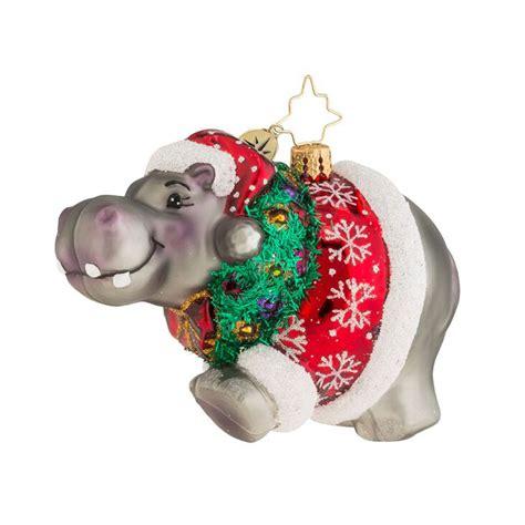 christopher radko ornaments 2016 radko hippo holidaze