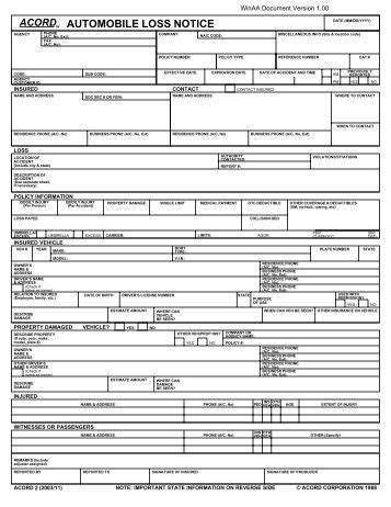 Attachment may be in the form of an organization chart. Commercial Property Insurance Application Form