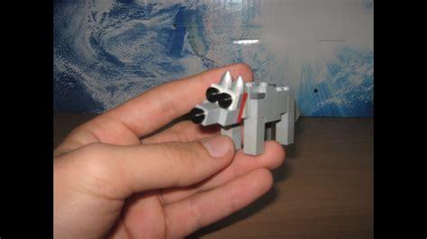 Lego Minecraft Wolf Tutorial - YouTube