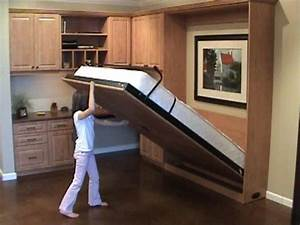 Easy to open &close Murphy Wall bed - YouTube