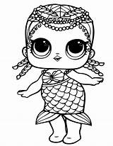 Lol Coloring Pages Dolls Doll Surprise Mermaid Printable Colour Merbaby Sheets Christmas Birthday Adults Drawing Para Cartoon Coloringpages Books Blogx sketch template