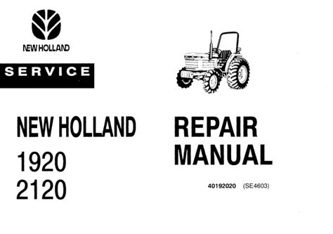 ford  holland   tractor service repair manual