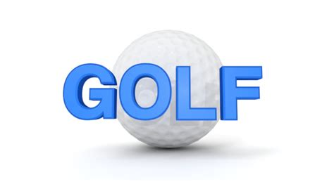 GOLF|ゴルフ - 3D文字|イラスト|フリー素材