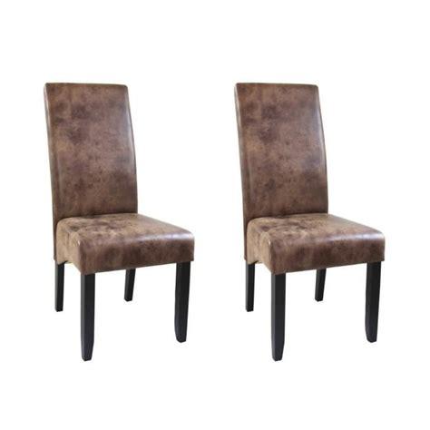 chaises de style cuba lot de 2 chaises de salle à manger style vintage