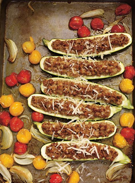 courgettes farcies au veau  au parmesan ricardo