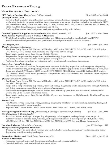 how to write a federal resume exle nonfiction book