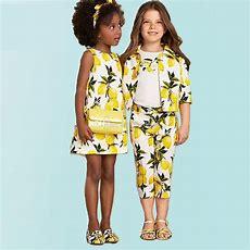 Girl Clothing Set Kids Jacket Tshirt Pants Set Girls Fashion Lemon Printed Spring Clothes Kids