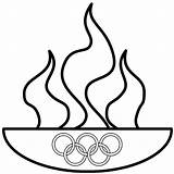 Olympics Clip Olympic Coloring Special Torch Printable Clipart Rings Flame Medal Greek Fire Swimming Drawing Line God Abcteach Theft Icon sketch template
