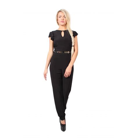 black jumpsuit with sleeves black jumpsuit with floaty sleeves parisia