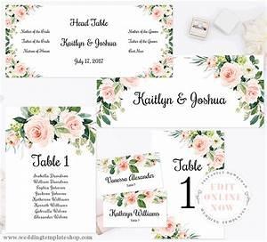 Wedding Seating Chart Set Table Numbers Place Cards Edit