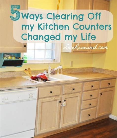 unclutter your life clearing the kitchen counter of 1000 images about de clutter on pinterest declutter