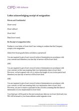Letter Of Resignation Uk Zero Hour Contract - Sample Resignation Letter