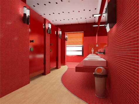 bagno rosso realizzazione  rendering  interni ed esterni grafica  al servizio dell