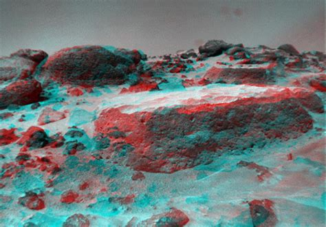 Photo 3d by Space Images Flat Top As Viewed By The Rover
