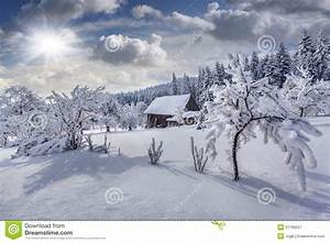 Winter Fairytale, Heavy Snowfall Stock Image - Image of ...