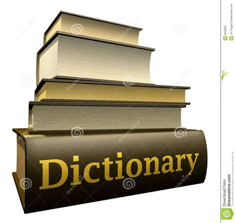 education books dictionary stock  image