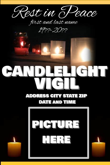 candlelight vigil postermywall