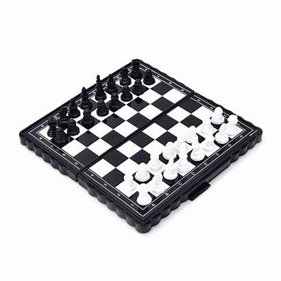 Chess Folding Board Magnetic Portable Pieces Plastic