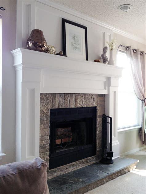 diy fireplace mantel diy fireplace mantel redo diyaffair