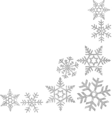 Border Snowflake Background Clipart by Snowflake Clipart Transparent Background 101 Clip