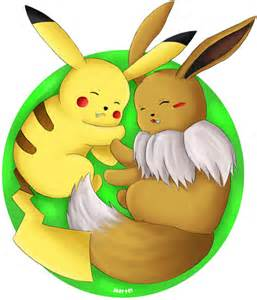 Pokemon Pikachu and Eevee Love