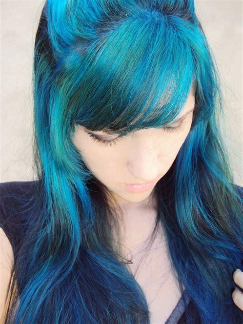 cabelo azul  franja tudo sobre cabelos