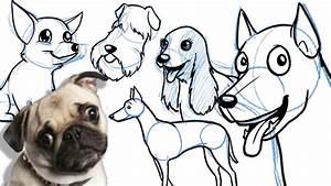How to Draw a Cartoon Dog - KidLit TV