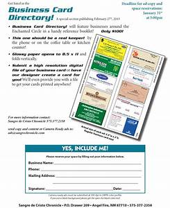Business card directory angel fire new mexico for Business card directory