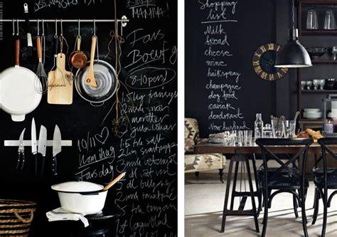 tableau noir ardoise cuisine décoration cuisine tableau noir