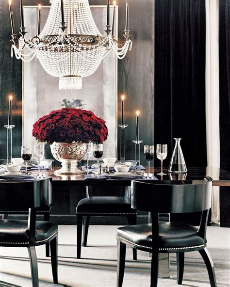 crystal chandeliers  dining room design