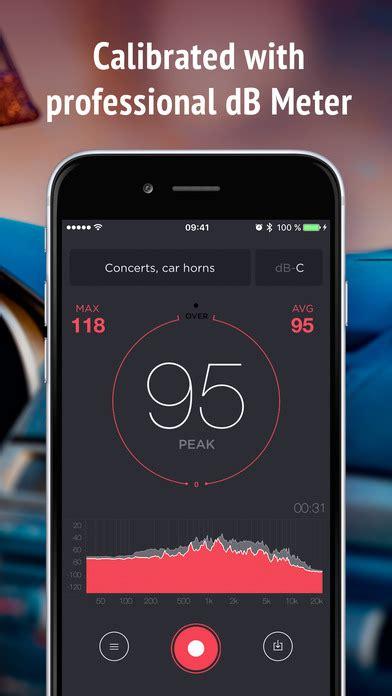 iphone decibel meter decibel meter sound level db measurement tool on the app
