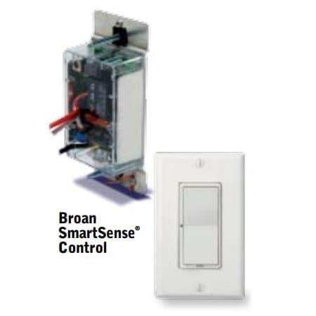 broan s97017260 white almond smartsense wall controller